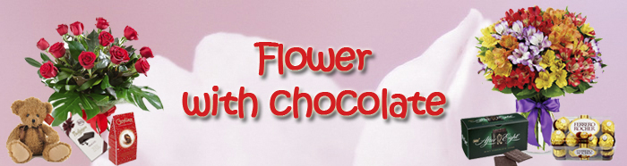 Flower w/ chocolate