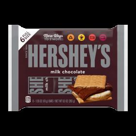 Hershey's Milk Chocolate Candy Bars 6-1.55 oz BARS / NET WT. 9.3 OZ