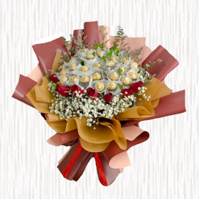 Roses and Ferrero Rocher Bouquet