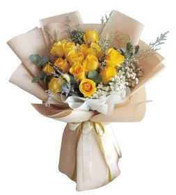 Imported Yellow Rose Bouquet