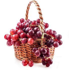 Red Grapes Fruit Basket