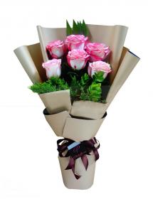 Half dozen  Bangkok Roses Bouquet