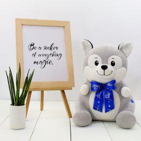Huggable Husky Dog Stuffed Toy