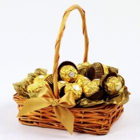 Basket of Ferrero Rocher Chocolates