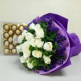 Bouquet of Roses + Chocolate