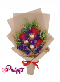 3 Roses & Chocolate Bouquet