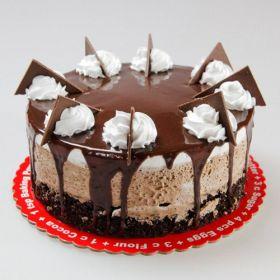 Nutty Chocolate Surprise Cake