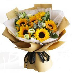 Sunflower & Lithiantus Bouquet