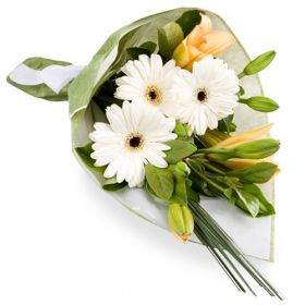 gerbera and lilies