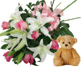 Flower w/ Stuffed toy