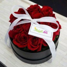 Round Box Rose