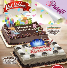 Red Ribbon's Dedication Cakes