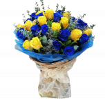 12 Yellow and 12 Blue rose