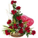 3 Dozen Roses in Basket  Manila rose delivery