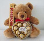 Bear , Ferrero Heartshape, Toblerone 100g