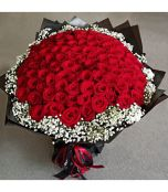 100 pieces red rose