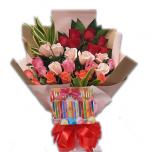 Assorted Rose Bouquet